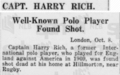 Captain Harry Rich suicide in The Straits Times on 17 October 1930.png