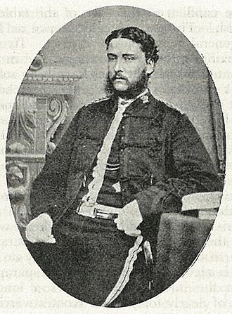 Te Kooti's War - Captain John St George of the Hawkes Bay squadron of the Colonial Defence Force, who was killed during the storming of Te Porere.