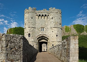 Carisbrooke Castle - The gatehouse entrance to the castle