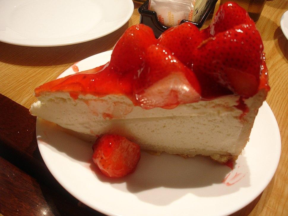 Carnegie Deli Strawberry Cheesecake