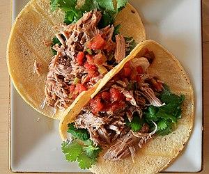 Carnitas - Tacos made with carnitas filling