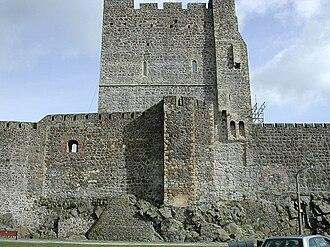 Battle of Carrickfergus (1597) - East wall and keep of Carrickfergus Castle