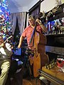 Carrollton New Year Party - Tom Saunders bows the bass.jpg