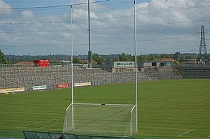 Casement Park - Pitch and terracing at Casement Park