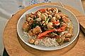Cashew chicken - Pollo con anacardos.JPG