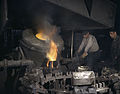 Casting a billet from an electric furnace at Chase Brass and Copper Co - Euclid Ohio.jpg