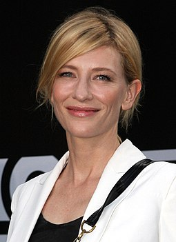 Blanchett at the 2012 Tropfest in Sydney Cate Blanchett at the Tropfest Opens (2012) (cropped 2).jpg
