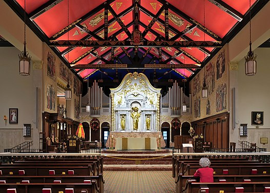 Cathedral Basilica of St. Augustine (St. Augustine, Florida) - nave after Mass.jpg