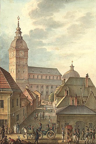 Turku - Turku Cathedral, 1814, prior to the Great Fire in 1827