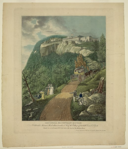 File:Catskill Mountain-House-A celebrated summer hotel about 12 miles S.W. of the village of Catskill Greene Co., N. York ... - drawn, engraved & publ. by J.R. Smith, Philada. June 21, 1830. LCCN95511202.tif