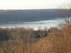 Cayuga Lake - Winter view of the head of Cayuga Lake
