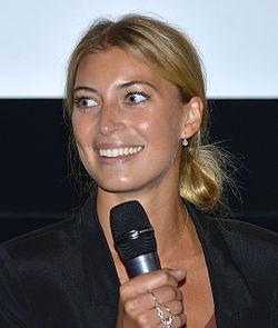 Cecilia Forss under præsentationen af det Svenske filmefterår 2014 i Filmhuset i Stockholm.