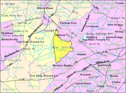 Census Bureau map of Chatham Township, New Jersey