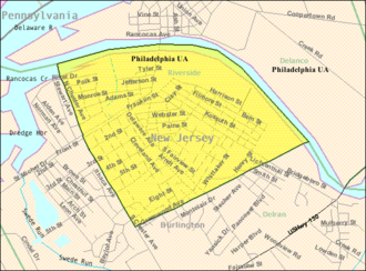 Riverside Township, New Jersey - Image: Census Bureau map of Riverside Township, New Jersey