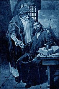 Cerny, Venceslav - Kristan z Prachatic navstevou mistra Jana Husi.jpg