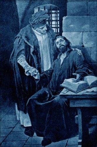 Christian of Prachatice - Image: Cerny, Venceslav Kristan z Prachatic navstevou mistra Jana Husi