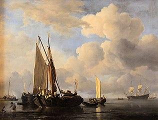 Fishing Boats In-shore in a Calm Sea