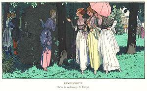 Louise Chéruit - Garden party dresses designed by Chéruit, published in La Gazette du Bon Ton, 1914