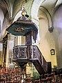 Chaire de l'église, faite par l'ébéniste Lambertoz en 1728.jpg