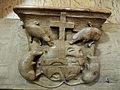 Champeaux (77) Collégiale Stalles hautes nord Miséricorde 11.JPG
