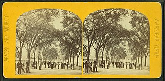 Charles Street (Boston) - Image: Charles Street Mall, Boston Common, from Robert N. Dennis collection of stereoscopic views 3