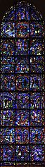 Stained-glass windows of the ambulatory of Cathédrale Notre-Dame de Chartres baie 028b