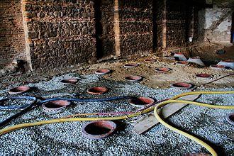 Kvevri - Kvevris burying process in  Winery