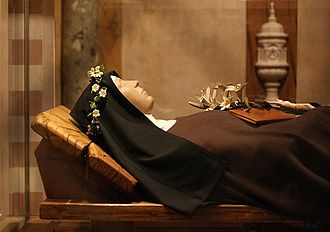 Clare of Assisi - The wax figure of Saint Clare of Assisi at Basilica of Saint Clare, in  Assisi