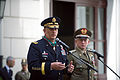 Chief of Staff of the U.S. Army Gen. Raymond T. Odierno, left, speaks after receiving the Order of Merit of the Italian Republic from Italian Army Chief of Staff Lt. Gen. Claudio Graziano, right, during 130502-A-AO884-268.jpg