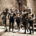Children in Naples, Italy. A group of little Italian boys pose. August 1944.jpg