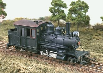 HOn30 gauge - Chivers Finelines Forney 2-4-4, built by Peter Bartlett