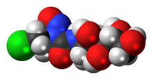 Space-filling model of the chlorozotocin molecule