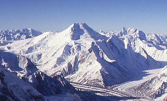 "Chogolisa - Chogolisa seen from the ""shoulder"" of K2"