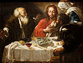 Christ and the Disciples in Emmaus Follower of Caravagio.jpg