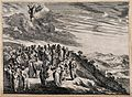 Christ ascends to heaven before his disciples. Etching by M. Wellcome V0034836.jpg