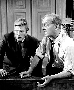 Arrest and Trial - Chuck Connors as John Egan and guest star Joseph Schildkraut as his client