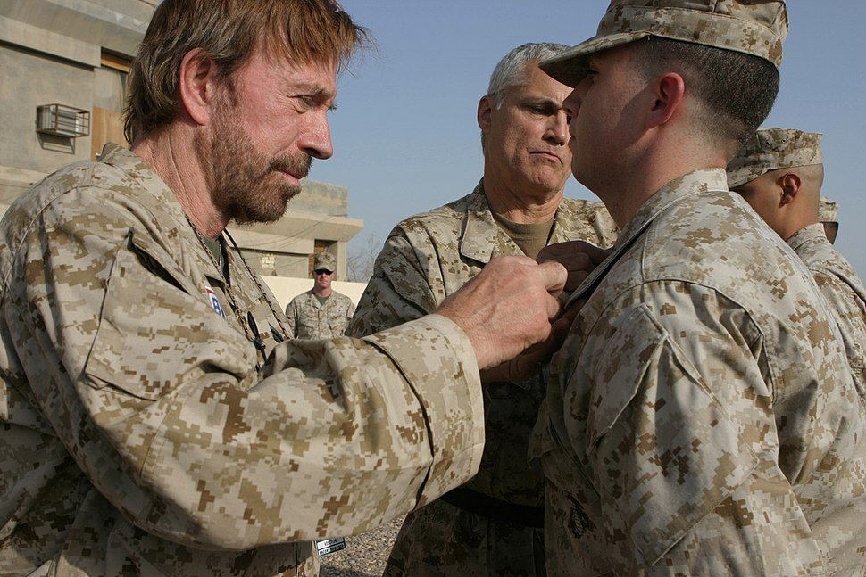 Chuck Norris in Iraq in 2006