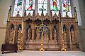 Church of St Christopher, Willingale, Essex, England - interior chancel reredos.JPG
