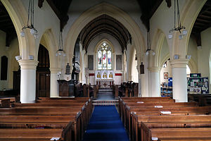Matching, Essex - St Mary's Church nave looking towards chancel