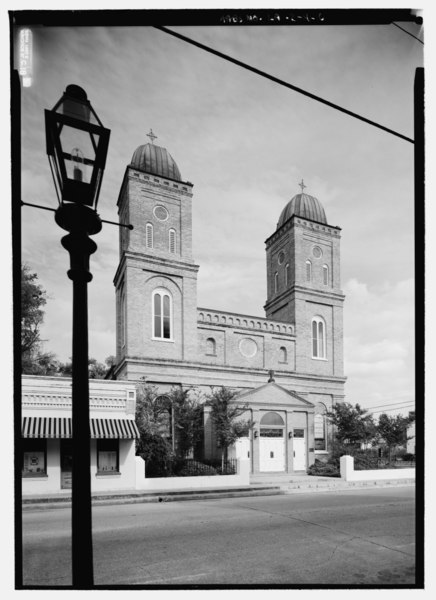 File:Church of the Immaculate Conception, 145 Church Street, Natchitoches, Natchitoches Parish, LA HABS LA,35-NATCH,2-6.tif