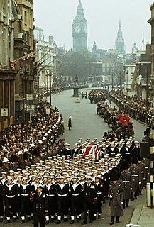 Death and state funeral of Winston Churchill State Funeral of British Prime Minister