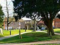 Churchyard and war memorial, St Mary's Church, Kintbury - geograph.org.uk - 1745464.jpg