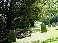 Churchyard bench in Grantchester - geograph.org.uk - 47314.jpg