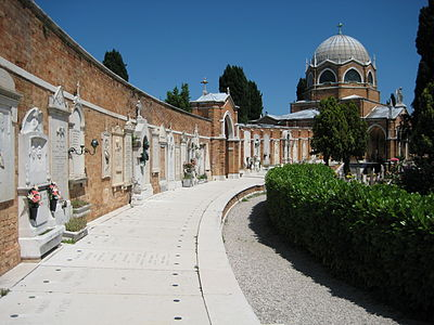 San Michele Cemetery Island, Cimitero stop