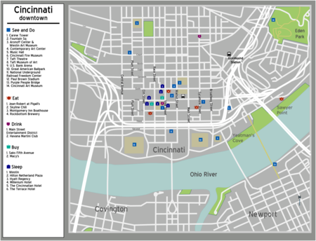 Map of Downtown Cincinnati