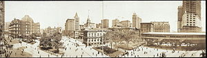 Park Row (BMT station) - Image: City Hall Panorama one