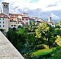 Cividale del Friuli Blick von der Teufelsbrücke auf die Altstadt 3.JPG