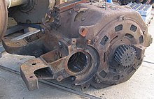 Nose Suspended Traction Motor For A Czech Čd Cl 182 Locomotive
