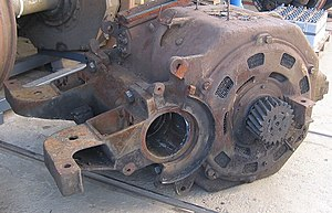 Traction motor - Nose-suspended traction motor for a Czech ČD class 182 locomotive