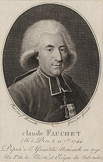 Claude Fauchet (revolutionist) French revolutionary bishop